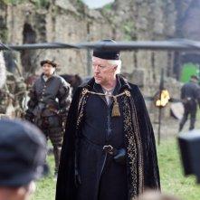 Da Vinci's Demons: Nick Dunning in un momento delle riprese della serie