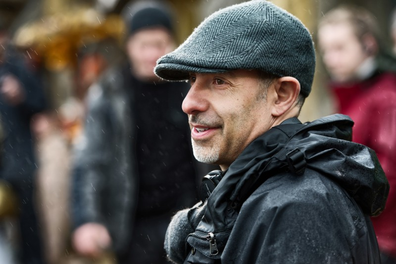 David S. Goyer sul set di Da Vinci's Demons