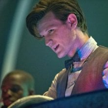 Doctor Who: Matt Smith in una foto di scena dell'episodio Journey to the Centre of the TARDIS