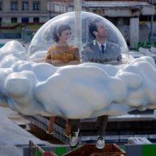 Audrey Tautou con Romain Duris in Mood Indigo - La schiuma dei giorni di Gondry