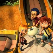 Dino e la macchina del tempo: i tre giovani protagonisti tornano indietro al tempi dei dinosauri
