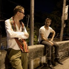 Ryan Gosling col regista Nicolas Winding Refn sul set di Only God Forgives