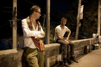 Ryan Gosling col regista Nicolas Winding Refn sul set di Only God Forgives