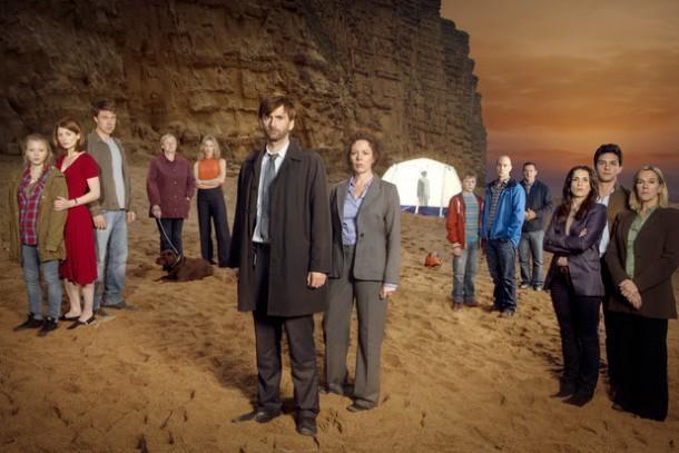Broadchurch: una foto promozionale del cast della serie