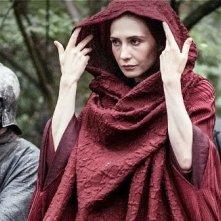 Il trono di spade: Carice van Houten in una scena dell'episodio The Climb