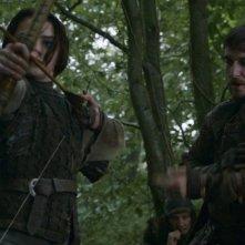 Il trono di spade: Maisie Williams in una scena dell'episodio The Climb