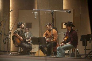 Inside Llewyn Davis: Oscar Isaac e Justin Timberlake in studio di registrazione