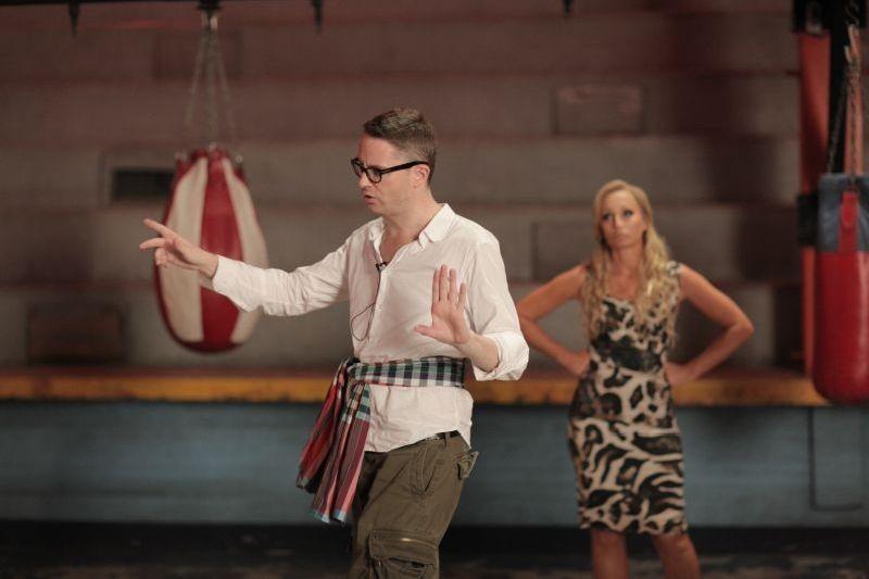 Nicolas Winding Refn con Kristin Scott Thomas sul set di Only God Forgives