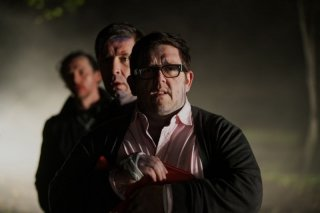 The World's End: Nick Frost e Paddy Considine in una scena