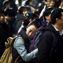 A Touch of Sin: Zhao Tao e Jiayi Zhang in una tenera scena del film