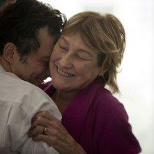 A Castle in Italy: Marisa Borini abbraccia Filippo Timi in una scena