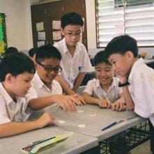 Ilo Ilo:  il piccolo protagonista Koh Jia Ler in una scena sui banchi di scuola