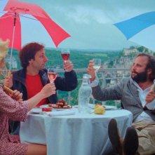 La fille du 14 juillet: il protagonista Vincent Macaigne in una scena del film con Grégoire Tachnakian