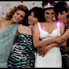 Meglio se stai zitta: Emilia Verginelli, Claudia Potenza, Valeria Solarino e Donatella Finocchiaro in una immagine promo del corto