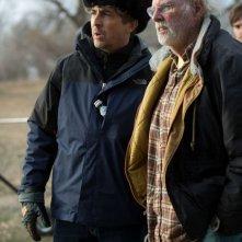 Nebraska: Bruce Dern sul set del film insieme al regista Alexander Payne