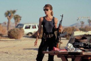Terminator 2 - il giorno del giudizio: Linda Hamilton in una scena del film
