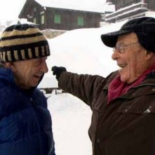 Un voyageur: Frederick Wiseman con Marcel Ophuls  in una scena