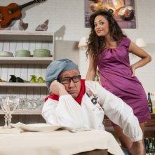 La cena dei cretini: una foto promozionale di Max Cavallari e Raffaella Fico