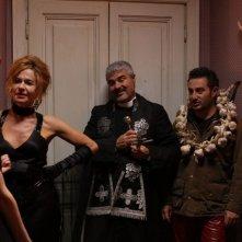 Una notte agli studios: Eva Robin's con Pino Insegno ed Enrico Silvestrin in una scena