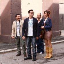 Una notte agli studios: Giorgia Wurth, Enrico Silvestrin, Claudio Insegno e Beppe Iodice in una scena
