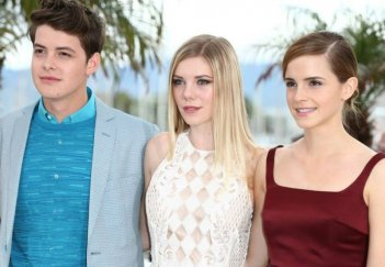 The Bling Ring: Emma Watson, Claire Julien e Israel Broussard durante il photocall sulla Croisette