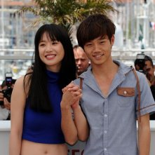 A Touch of Sin: A Touch of Sin: Lanshan Luo e Vivien Li durante il photocall a Cannes 2013
