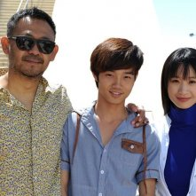 A Touch of Sin: A Touch of Sin: Wu Jiang, Vivien Li e Luo Lan-Shan durante il photocall a Cannes 2013