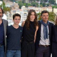 Jeune et jolie: il regista François Ozon insieme al cast durante il photocall a Cannes 2013