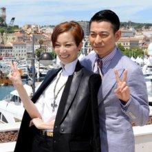 Blind Detective: Andy Lau e Sammi Cheng durante il photocall del Festival di Cannes 2013