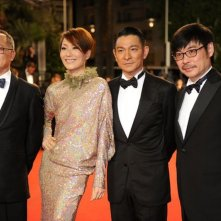 Blind Detective: Andy Lau, Sammi Cheng e Johnnie To sul red carpet a Cannes 2013