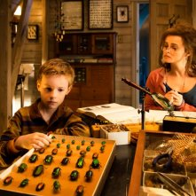 The Young and Prodigious Spivet: Helena Bonham Carter e Kyle Catlett in una scena