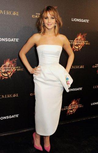 Hunger Games: la ragazza di fuoco, Jennifer Lawrence sulla Croisette durante la festa di Covergirl