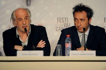 La grande bellezza: Toni Servillo e Paolo Sorrentino durante la conferenza stampa di Cannes 2013