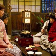 Rurouni Kenshin: Takeru Sato nel corso di una visita