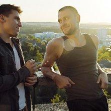 Hanno Koffler con Max Riemelt nel film a tematica gay Freier Fall
