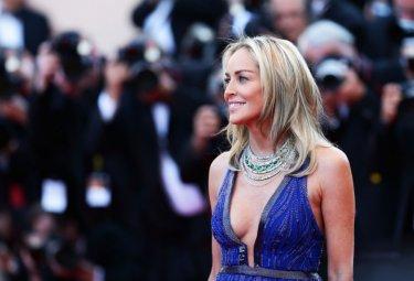 Cannes 2013 - Sharon Stone con un abito di Cavalli