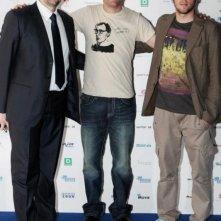 N. Santi Amantini con Lorenzo Lombardi e David Jakubovic al Tolentino International Film Festival