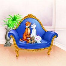 Gli Aristogatti: una colorata immagine del cartone animato Disney