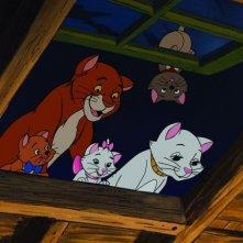 Gli Aristogatti: una colorata immagine tratta dal cartone animato Disney