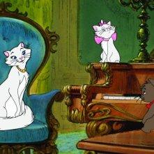 Gli Aristogatti: una scena del cartone animato Disney