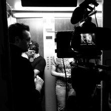 Il set di UP & DOWN, con il Lorenzo Lombardi (regista), N. Santi Amantini (Dop)
