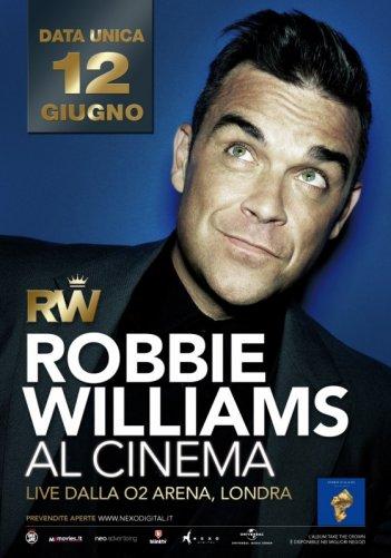 Robbie Williams Live: la locandina dell'evento
