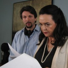 The Butterfly Room - La stanza delle farfalle: Barbara Steele con Jonathan Zarantonello sul set
