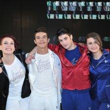 I quattro finalisti di Amici 12: Verdiana Zangaro, Moreno Donadoni, Greta Manuzi, Nicolò Noto.