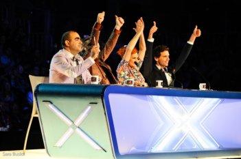 X Factor 7: Mika, Elio, Morgan e Simona Ventura, i quattro giudici dell'edizione 2013, ai casting di genova