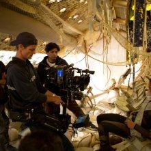 After Earth - Dopo la fine del mondo: Jaden Smith sul set del film insieme al regista M. Night Shyamalan