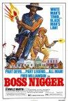 Boss nigger: il poster del film