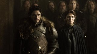 Il trono di spade: Richard Madden e Michelle Fairley in una scena di The Rains of Castamere