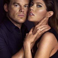 Dexter: Michael C. Hall e Jennifer Carpenter in una immagine promozionale della stagione 8