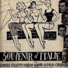 Souvenir d'Italie: la locandina italiana in b/n